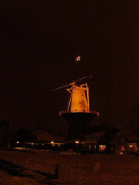 Molen 'Windlust' in december 2009